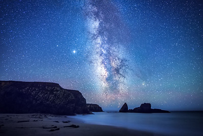 Cooks Beach & Milky Way, Gualala, California