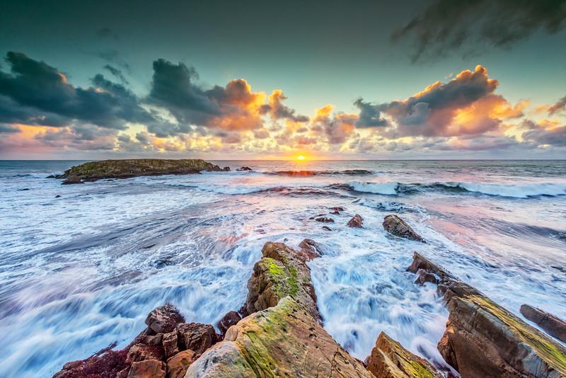 Gualala Point Island Sunset, Sea Ranch, California