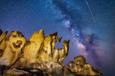 Salt point & Perseid Meteor, Salt Point, California
