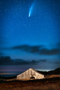 Sea Ranch Barn & Comet NEOWISE, Study 1