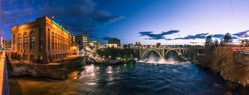 Vintage Spokane Blue Hour