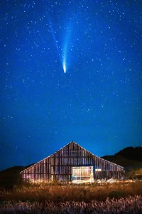 Sea Ranch Barn & Comet NEOWISE, Study 3