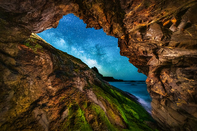 Shelter Cave & Milky Way, Sea Ranch, California