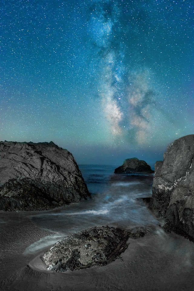 Sea Cove & Milky Way, Sea Ranch, California