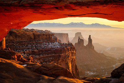 Winter Morning at Mesa Arch, Canyonlands National Park, Utah