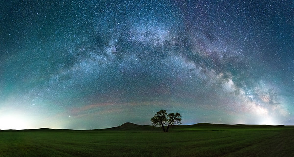 Milky Way Panorama Over Steptoe