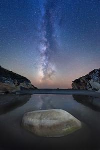 B;ack Moon & Salal Cove, Sea Ranch, California