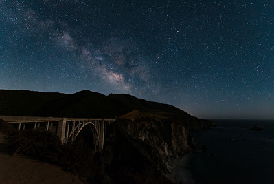 Bixby Bridge under the Milkey Way