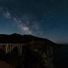 Bixby Bridge under the Milkey Way