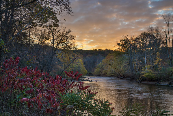 Fall Skies Over Cuyahoga River