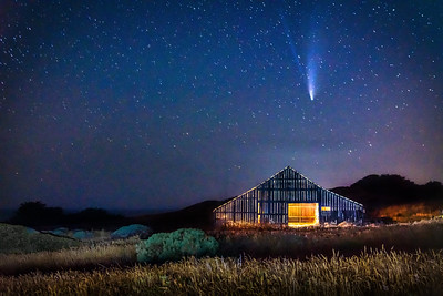 Sea Ranch Barn & Comet NEOWISE, Study 4