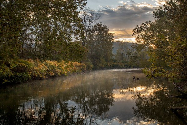 Early Morning on the Cuyahoga River