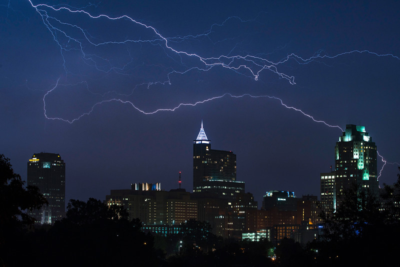 Clearing Storm over Raleigh