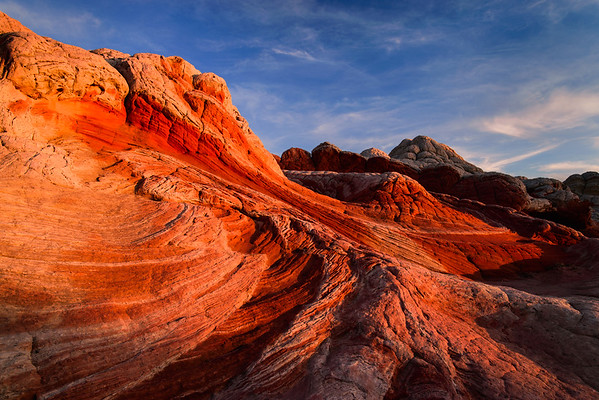 Firey Sunset At White Pocket, Vermillion Cliffs National Monument, Arizona