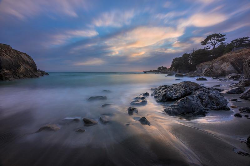 Sea Pine Beach, Sunset, Sea Ranch, California