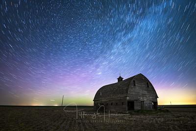 Star Trails Barn