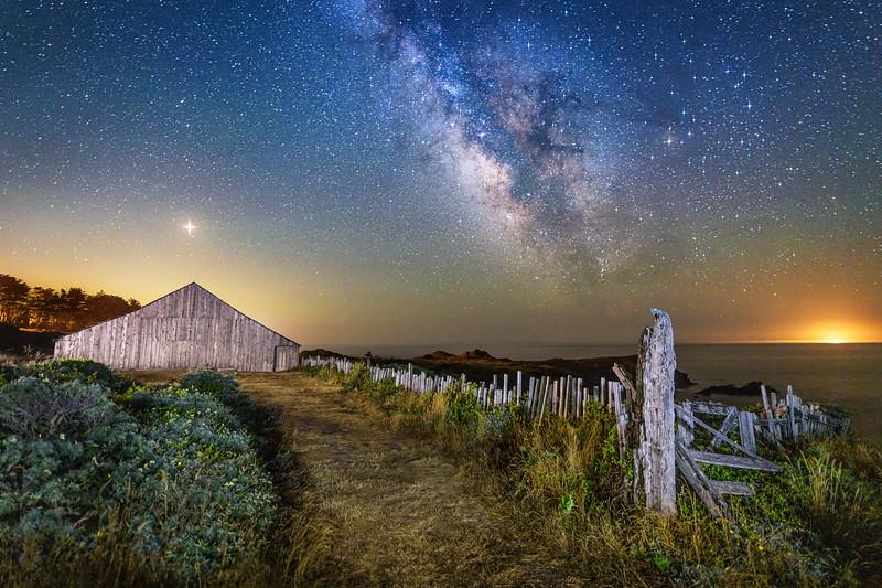 Mars & Milky Way, Sea Ranch, California