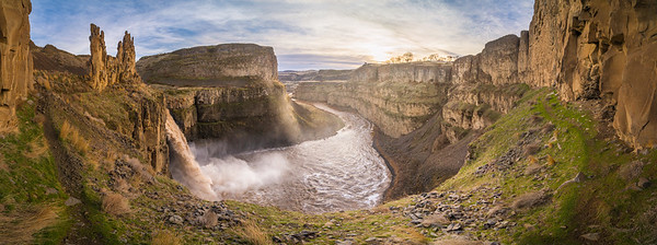 Palouse Falls Trail Panorama