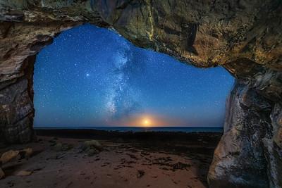 Schooner Beach Sea Cave & Milky Way, Study 5