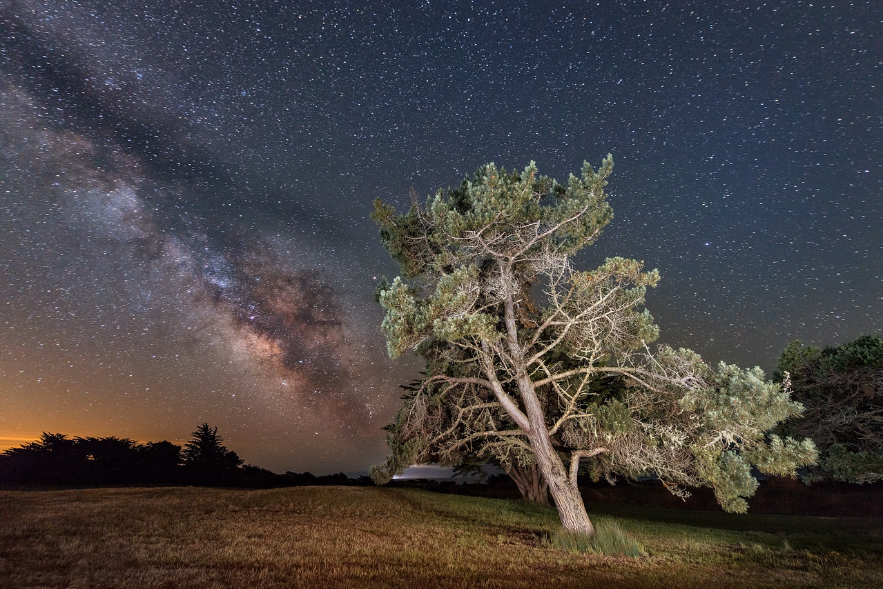 Evening Milky Way, Sea Ranch, California