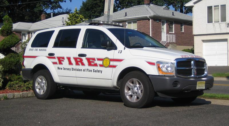 NJ Fire Marshal Unit 13 Dodge Durango (ps)