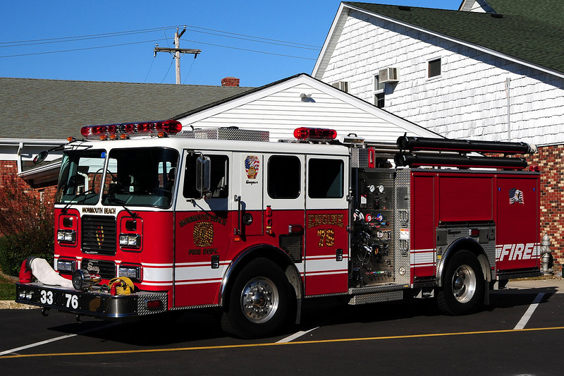 Monmouth Beach Fire Dept  Engine  33-76  2004 Seagrave 1500/ 500 / 30
