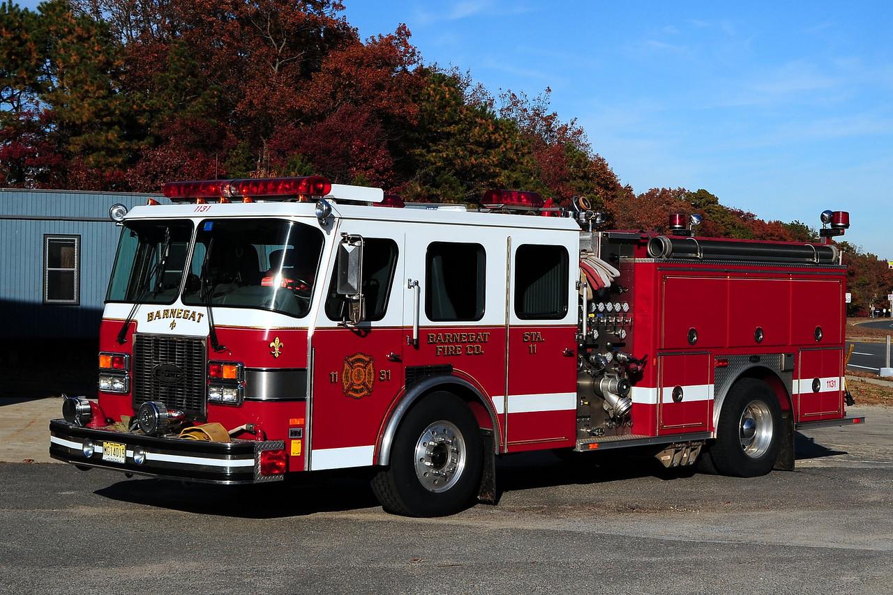 Barnegat  Fire Dept  Engine  11-31  1992 Emergency-One  1500/750