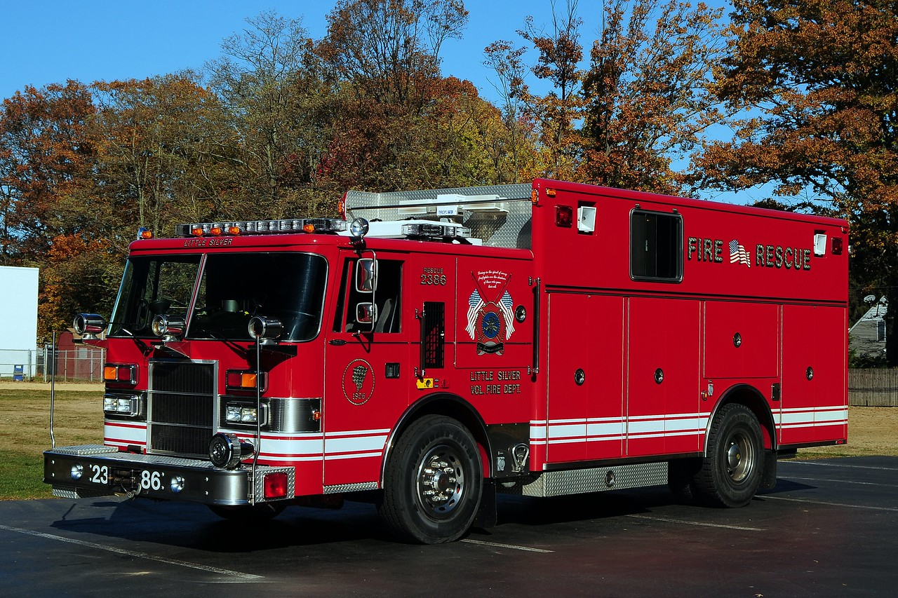 Little Silver Fire Dept  Rescue 2386  1996  Pierce Dash Heavy Rescue  Ex- Us Army Ft Monmouth