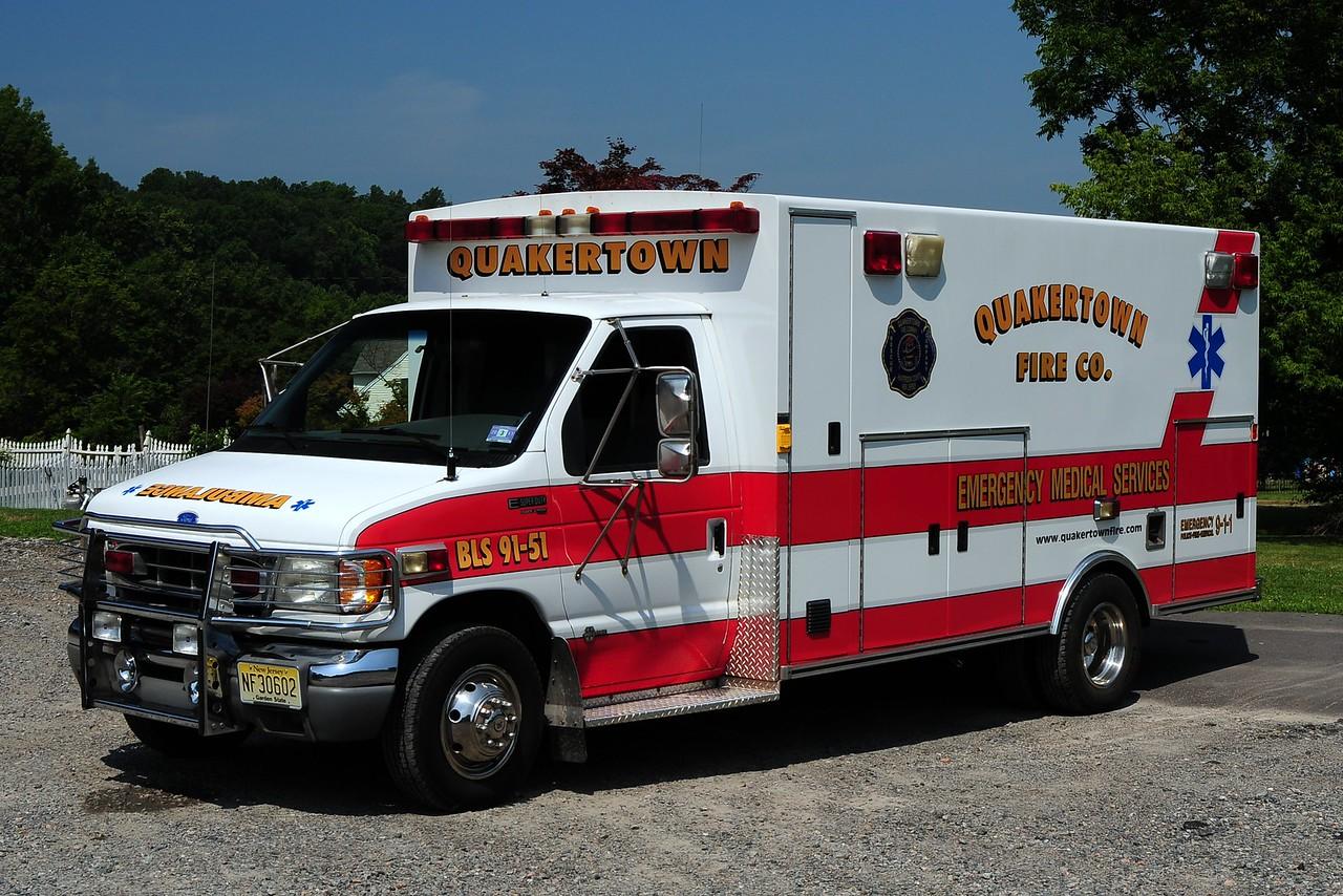 Quakertown  Ambulance  91-51 BLS   1997  Ford E-350 / Braun