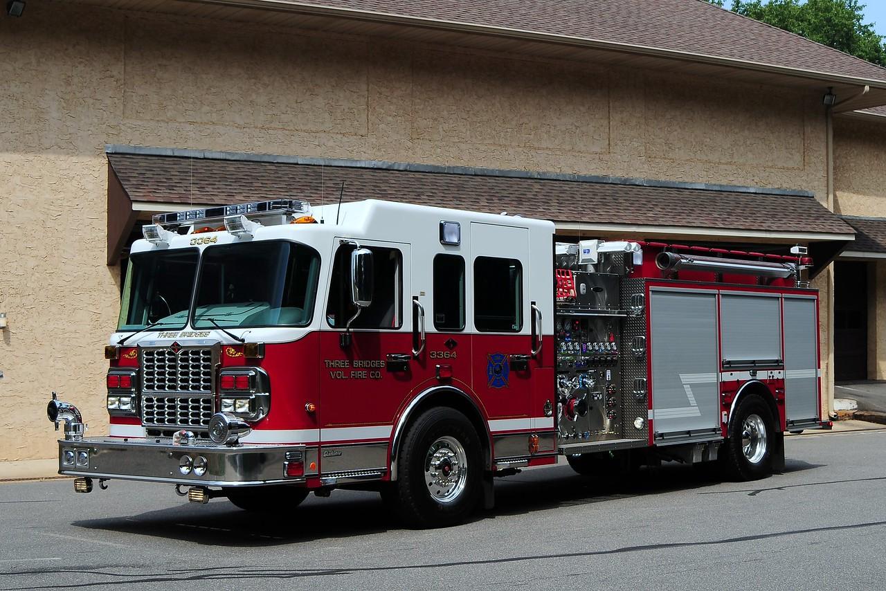 Three Bridges Fire Co  Engine 33-64 - 2008 Spartan/ 4Guys 1750/ 1500/ 50 CAFS