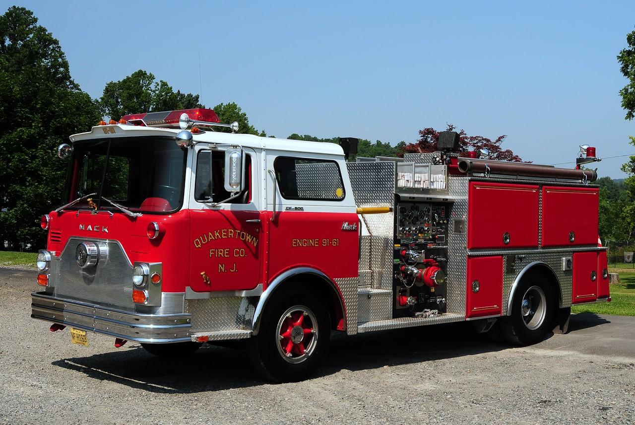 Quakertown  Engine 91-61  1969 Mack CF 1000/750 referb by Grumman in 1990