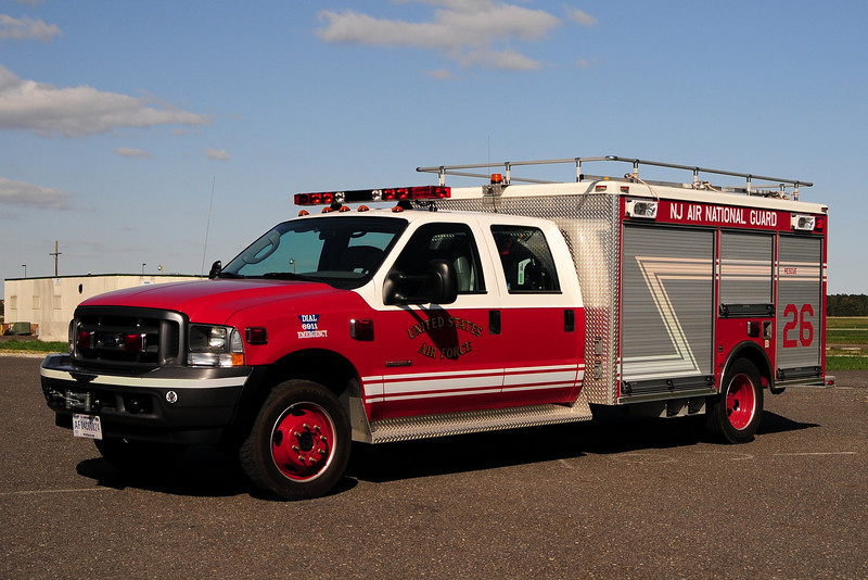 USAF  P-32  New Jersey  Air National Guard Rescue 26    2004 Ford F550/Pierce Contender