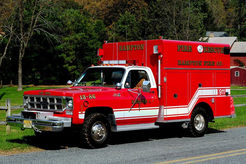 Hampton Fire Co   Rescue  1   1978  GMC 3500  Pierce