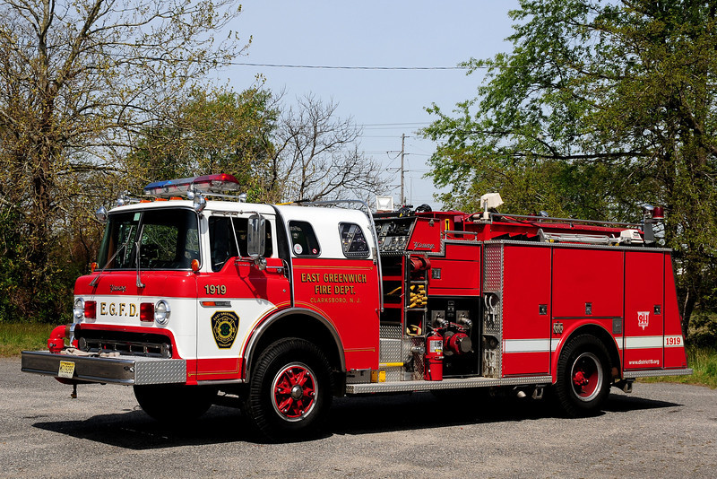 East Greenwich   Engine  1919  1986  Ford C8000/ Young   1000/ 750