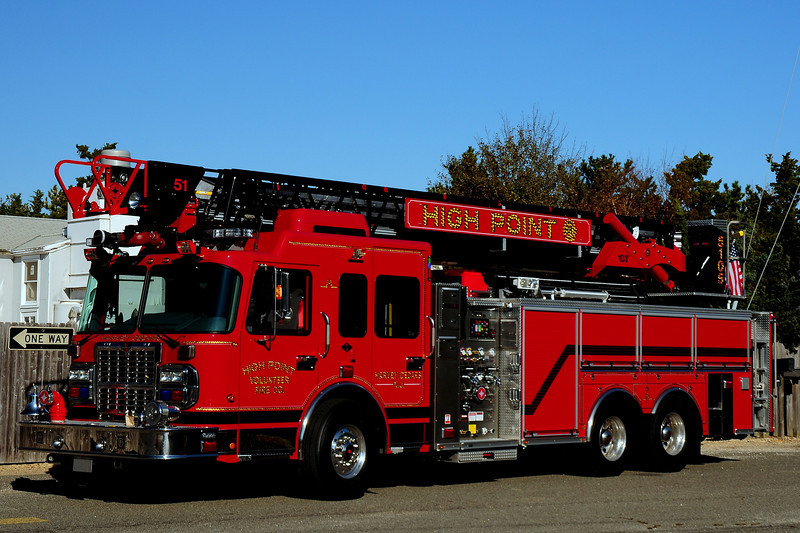 High Point Fire Co  Ladder 5105  2011  Spartan/Crimson  1750 /500/ 10 Class A  103ft