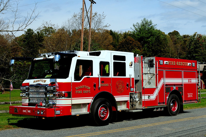 Hampton Fire Co   Engine  7  2009 Pierce  Impel  PUC  1500 / 750 / 30  CAFS