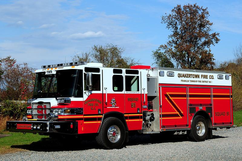 Quakertown Fire Dept    Squad  91    201 0  Pierce Quantum PUC  1500 / 750 / 30