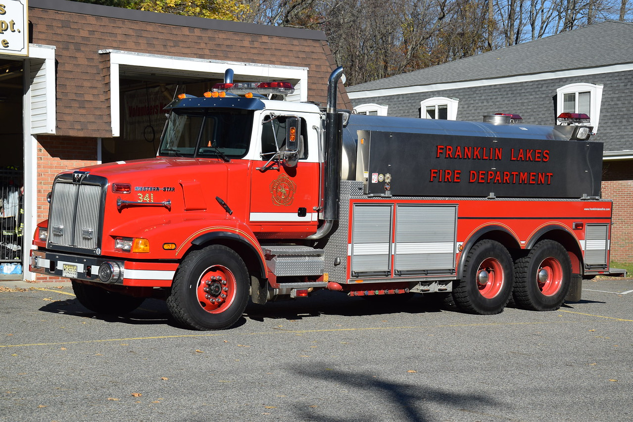**Retired** Franklin Lakes Fire Department Tanker 341