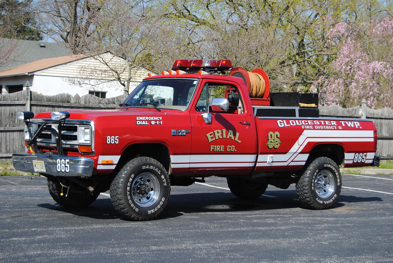 Erial Fire Company, Gloucseter Twp Brush 865