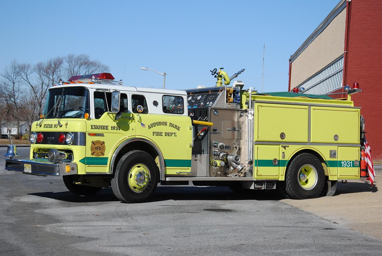 Audubon Park Fire Department, Audubon Park Engine 19-31