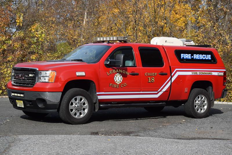 Lebanon Fire Company Chief 18
