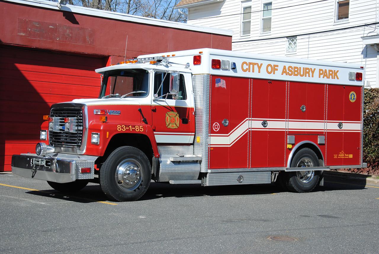 Asbury Park Fire Department, Asbury Park Rescue 83-1-85