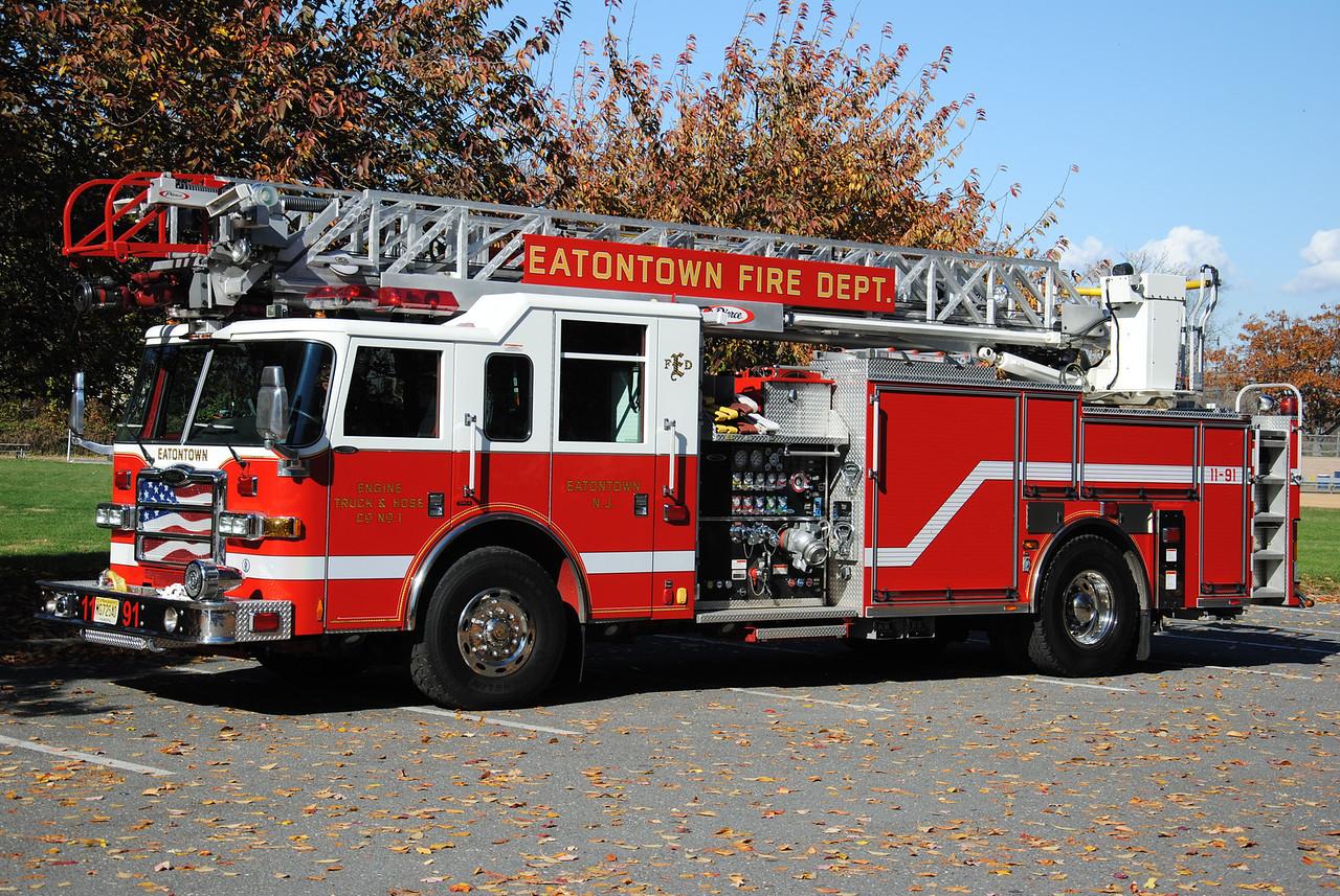 Engine, Truck, Hose Company #1, Eatontown Fire Department Quint 11-91