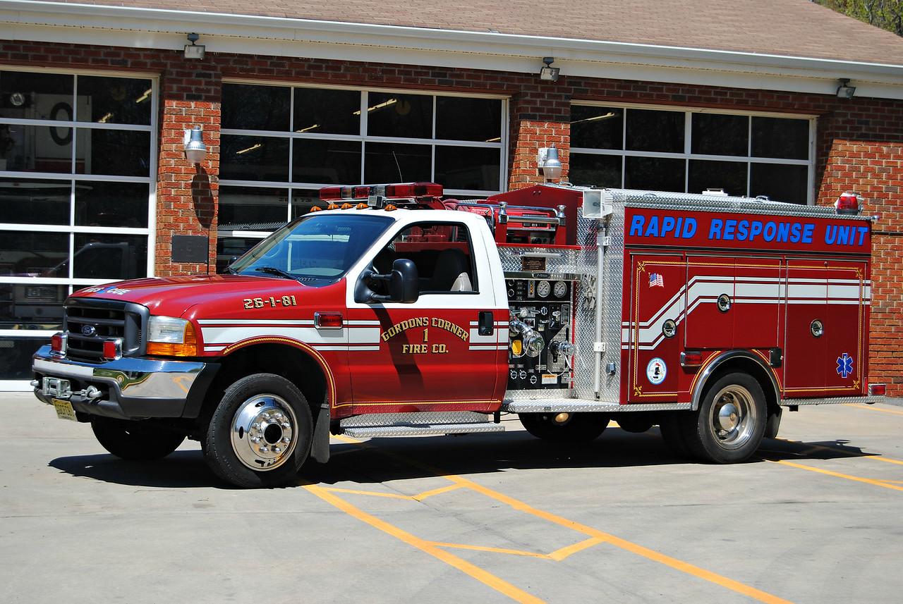 Gordons Corner Fire Company Rapid Response 26-1-81