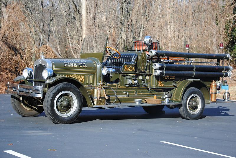 Hamilton Fire Company Antique Engine