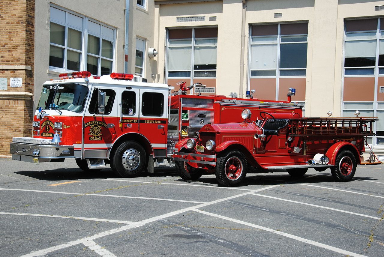 Liberty Hose Company #3, Keyport Fire Department Old & New Engines