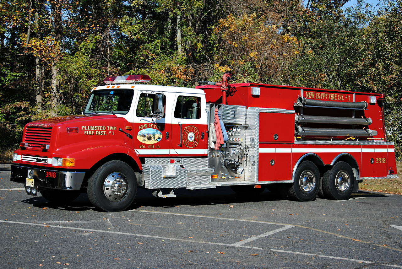 New Egypt Fire Company, Plumstead Tanker 3918