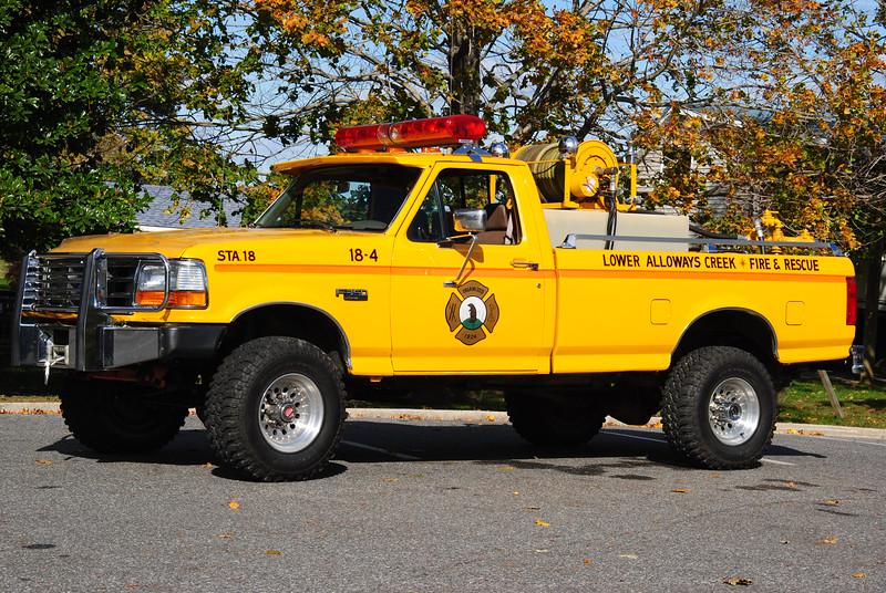 Lower Alloways Creek Fire Company, LAC Twp Brush 18-4