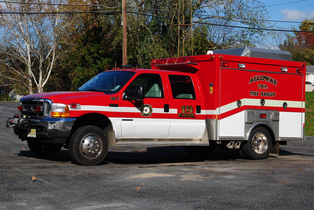 Alloway Fire Company, Alloway Twp ESU 19-7