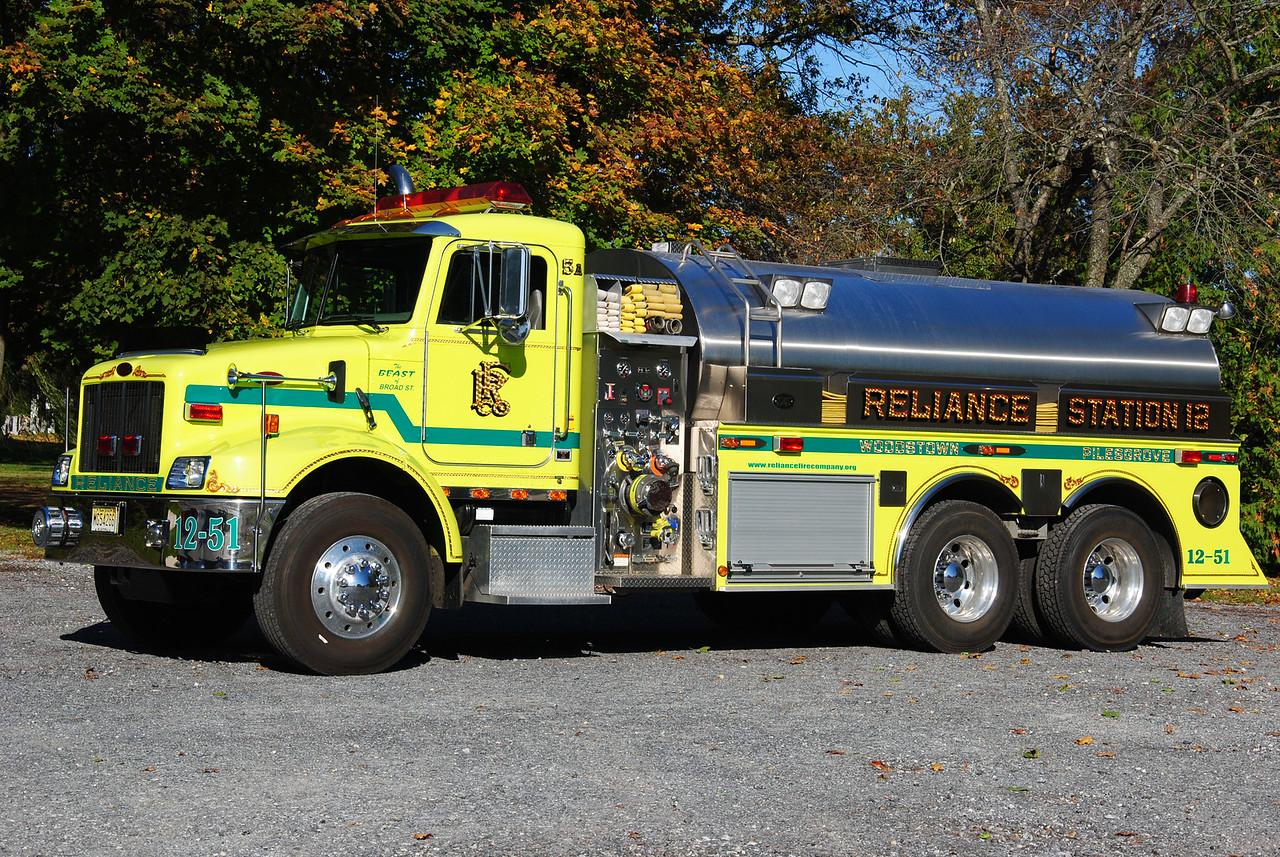 Reliance Fire Company, Woodstown Tanker 12-51